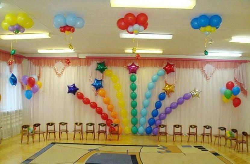 Как украсить зал своими руками на выпускной