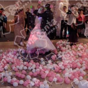 Взрыв  3 - х шаров сюрпризов