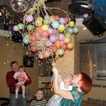 Взрыв шара сюрприза