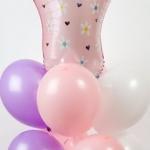 Фото № 20.а /  Цена - 360 грн / В композиции 12 шаров + ножка фольгированная  - 130 грн. / Цвета в ассортименте /