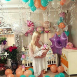 № 51.б/Оформление шарами рождения ребенка , выписки с роддома / Цену уточняйте у менеджера. /