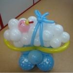 Оформление шарами рождения ребенка , выписки с роддома /