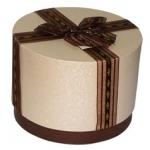 круглая-коробка-коричнев - 90 грн.