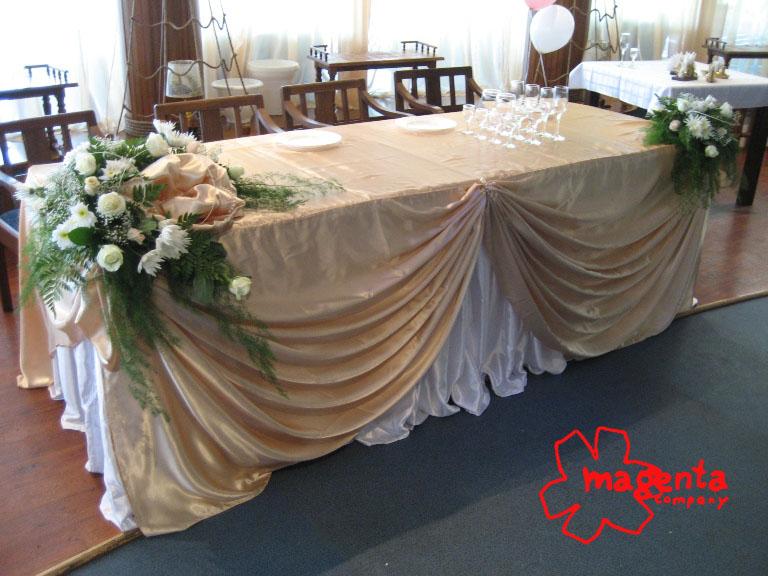 Как сшить скатерть для свадебного стола своими руками