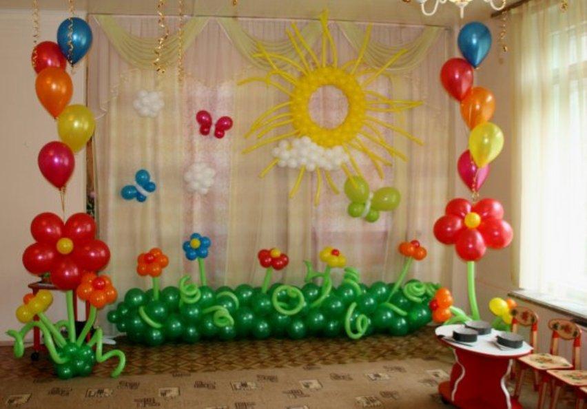 Оформление залов для выпускных в детских садах.  Можно выбрать отдельные элементы для украшения.