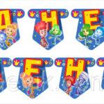 Гирлянда бумажная » С Днем Рождения » Фиксики мульт