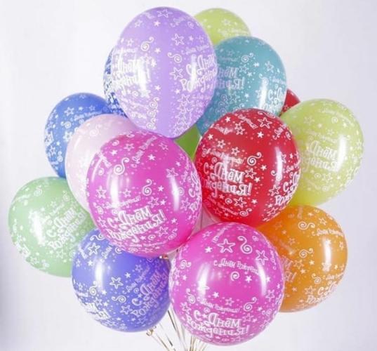 Гелиевые шары с днем рождения в Запорожье