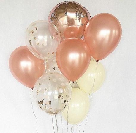 шары цвета розовое золото в запорожье