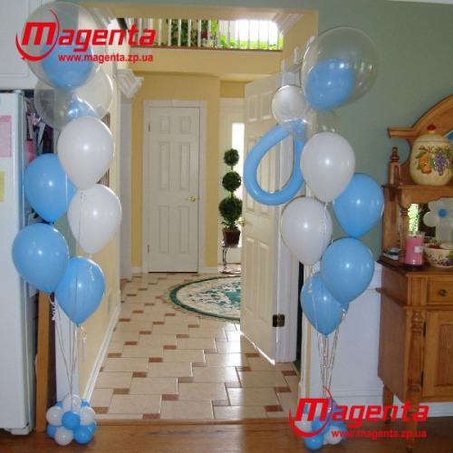 шары для мальчика на выписку с роддома (2)