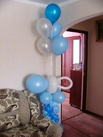 шары для мальчика на выписку с роддома