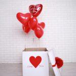 Корбка сюрприз с шарами в Запорожье (2)